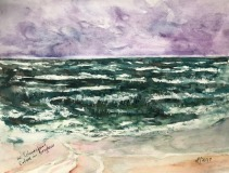 Aquarell-Ostsee-in-Grzybowo