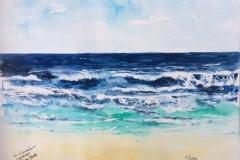 Aquarell_Strand_Playa_Honda