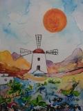 Postkarte_Muehle_auf_Lanzarote