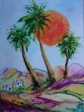 Postkarte_Palmen_vor_der_Sonne_auf_Lanzarote