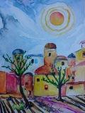 Postkarte_Sonne_auf_Lanzarote