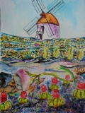 Postkarte_Windmuehle_auf_Lanzarote