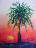 Postkarte_untergehende_Sonne_auf_Lanzarote