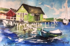 Postkarte_Bootshaus_am_Ammersee