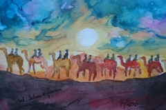 Postkarte_Kamele_am_Timanfaya