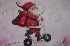 Postkarte_rollender_Nikolaus